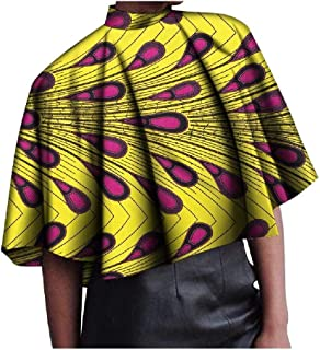 Zimaes Women Basic Cotton Folk Style Print African Relaxed Plus-size Tees Top