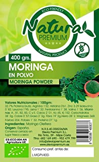 Natura Premium Moringa - Molida En Polvo 400 gR. ECOLOGICO