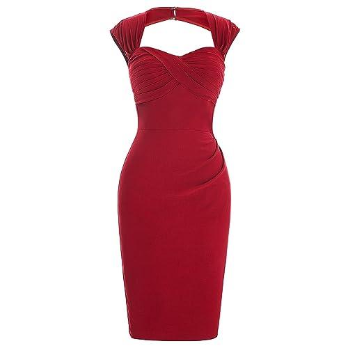 70c44dc03 Belle Poque Vintage Elastic Pencil Dresses Sleeveless Hollow Back Slim Fit  Plain Bodycon Dress