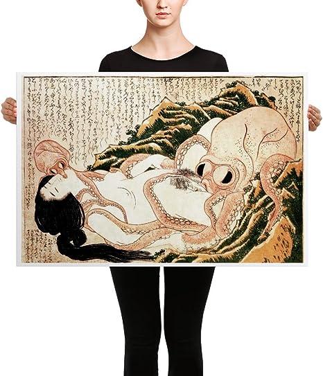 Hokusai Dream Of The FISHERMAN/'S Wife 1820 Fridge Magnet Aimant Frigo