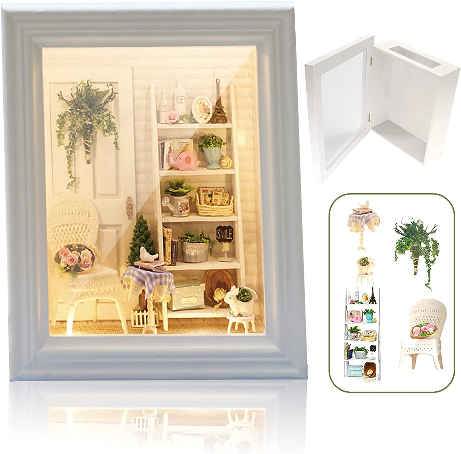 Luceinvita Shadow Box Cheap super special price Frame Photo Memory Miniature Challenge the lowest price of Japan Ki Decoration