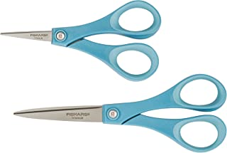Fiskars Performance Titanium Scissors 7 Inch and 5 Inch Set, Color Received May Vary