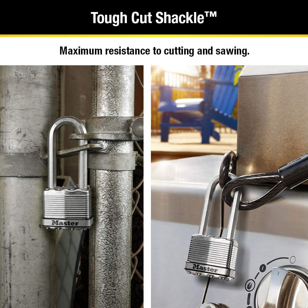 Magnum Heavy Duty Outdoor Padlock with Key 2 Pack Keyed-Alike