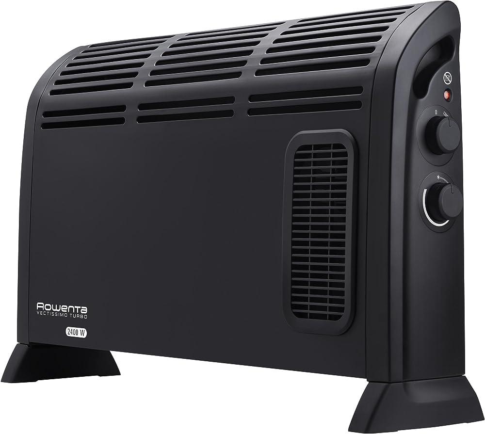 Rowenta vectissimo ii ,riscaldatore elettrico, termoconvettore, due livelli di potenza da 1200 w e 2400 w CO3035