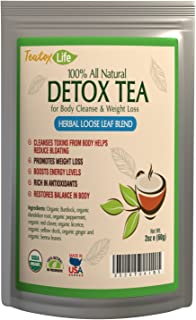 Teatox Life Detox Cleanse Weight Loss Tea  Colon Cleanse Metabolism Booster Without Diet Pills for Belly Fat  USDA Organic   Made in USA