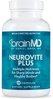 Dr. Amen brainMD NeuroVite Plus - 120 Capsules - Multivitamin & Mineral Supplement, Enhanced with Phytonutrients, Enzymes & Whole Foods - Gluten-Free - 30 Servings