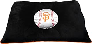 MLB PET Bed - San Francisco Giants Soft & Cozy Plush Pillow Bed. - Baseball Dog Bed. Cuddle, Warm Sports Mattress Bed for Cats & Dogs