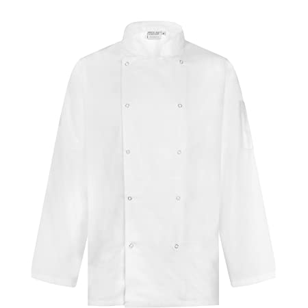 Proluxe Professional Chef Jacket - Long Sleeve - Unisex - Modern Fit - Black, White & Grey Available