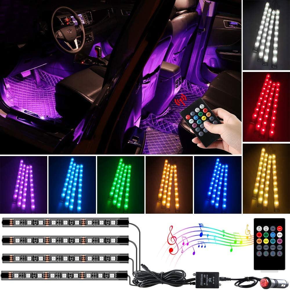 Yifengshun 4pcs LED Car Interior Lights , Car 36 LED Strip Light