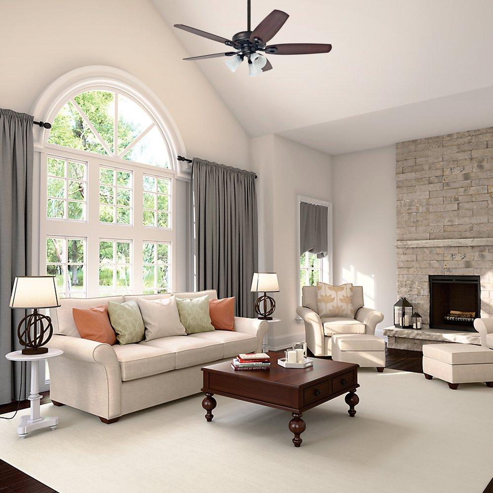 Hunter Fan Builder Plus Ventilador de techo con luz bronce nuevo ...