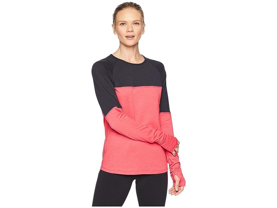 Skirt Sports Wonder Wool Long Sleeve (Cosmo Pink Wool/Black) Women