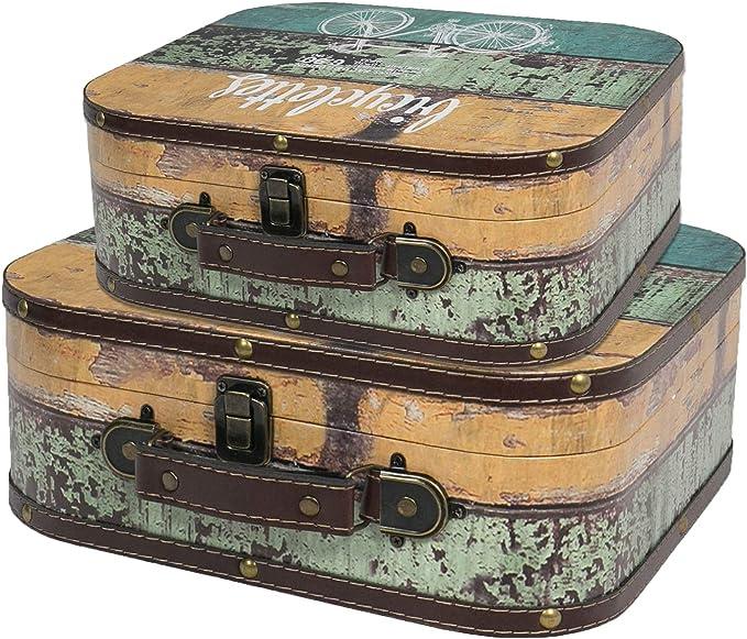 151 opinioni per HMF VKO200 Valigia in Legno Vintage | Set di 2 | Dimensioni diversi |