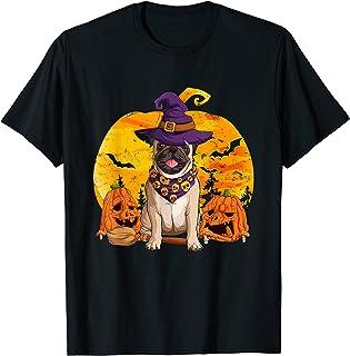 Bulldog français Chapeau de sorcière Costume d'Halloween T-Shirt