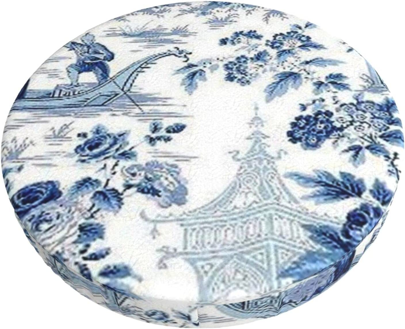 Chinese Our shop most popular Style 2021 Powder Blue Chinoiserie Bar Toile Stool Round Loun