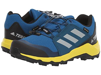 adidas Outdoor Kids Terrex GTX (Little Kid/Big Kid) (Blue Beauty/Grey One/Shock Yellow) Boys Shoes