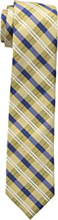 yellow and gray plaid tie