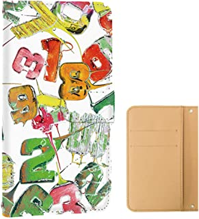 HUAWEI P20 lite (HWV32・ANE-LX2J) ケース 手帳型 カードタイプ [キャンディロゴ・白グリーン系] ロリポップ ペイント ピートゥエンティライト スマホケース 携帯カバー [FFANY] lolipopo-143@02c