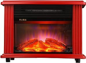 QIAO Calentador Calefactor, Fuego De Carbón De Simulación 3D IPX4 A Prueba De Agua Poner A Cero La Radiación, Calentador Habitación, para Habitación, Oficina,Baño