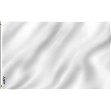 3/' x 2/' WHITE FLAG Blank Plain Colour Solid Coloured