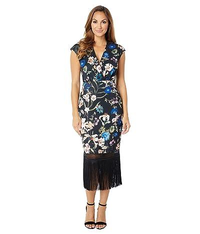 Badgley Mischka CDC Floral Fringe Dress