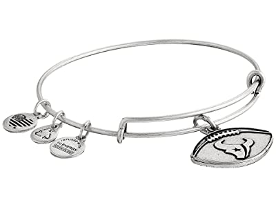 Alex and Ani NFL Houston Texans Football Bangle (Rafaelian Silver) Charms Bracelet