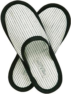 Linen & Cotton Chaussons de Bain de Luxe Hommes/Femmes TOKHI - 100% Lin