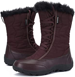 Outdoor Waterproof Winter Snow Boots Warm Fur Booties Fashion Shoes for Women Girls