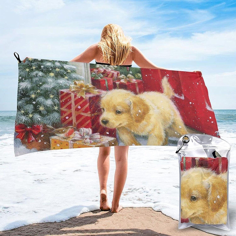 Mescchsk Christmas Golden Retriever Print Low price 2 Towel Bargain sale Dry Quick Size