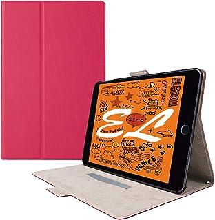 エレコム iPad mini (2019)、iPad mini 4 (2015) ケース フラップカバー ソフトレザー フリーアングル スリープ対応 ピンク TB-A19SWVFUPN