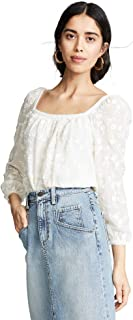 Rebecca Taylor Women's Long Sleeve Kyla Embroidered Top