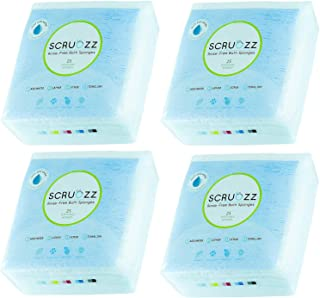 Scrubzz Disposable No Rinse Bathing Wipes - All-in-1 Single Use Shower Wipes, Simply Dampen, Lather, and Dry Without Shamp...