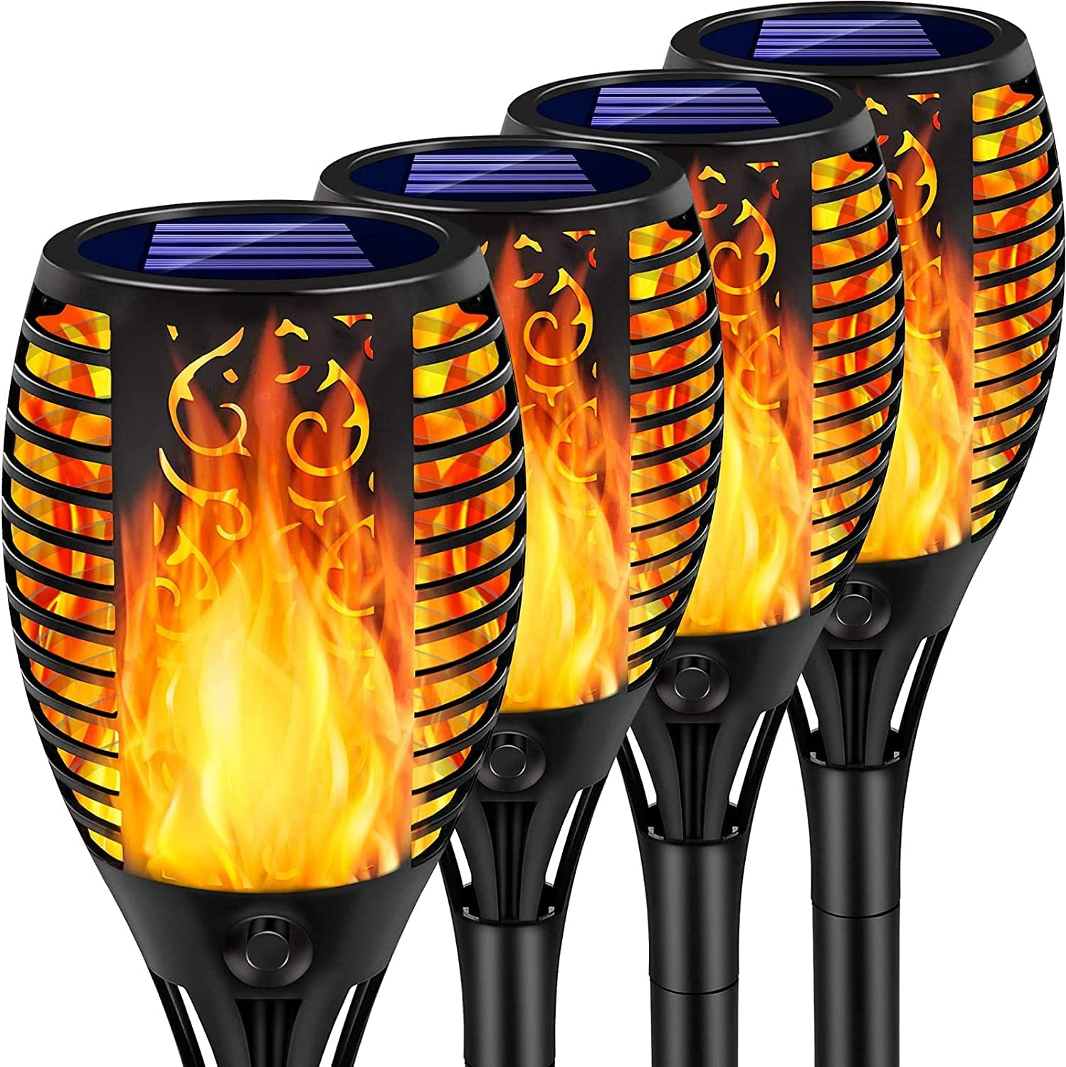Arrinew 33 LED 4-Pack Solar Torch Flame Lights $18 Coupon