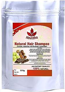 Havintha Natural Hair Shampoo with Amla, Reetha and Shikakai Powder - 227 grams. (pack of 1)