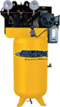 10 HP Air Compressor, 80-Gallon, Vertical, 2-Stage, 1-Phase, 4-Cylinder, Piston, Industrial Plus Series, Model EI10V080V1 by EMAX Compressor