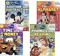 Disney Pixar Activity Workbook Bundle - Alphabet Phonics Reading Addition Subtraction Time Money