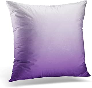 VANMI Throw Pillow Cover Pastel Girly Chic Minimalist Ombre Lilac Lavender Colors Decorative Pillow Case Home Decor Square 16x16 Inches Pillowcase