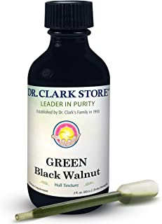 Dr Clark Green Black Walnut Hull Tincture - Dietary Supplement, Extra Strength Formula from All Natural Walnuts, Supports ...