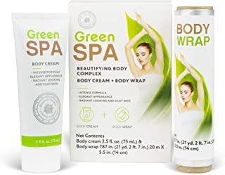 Hendel's Garden Belly Fat Burner Wrap Kit | Slimming, Firming Body Cream & Sweat Inducing Tummy Wrapper | Skin Tightening Smoothing Spa Quality Cellulite Removal Cream