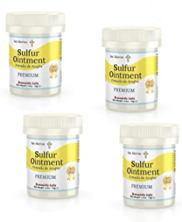 4 PACK - premium Sulfur Ointment - . Go All Natural ! No PEG (Zero Polyethylene Glycol)