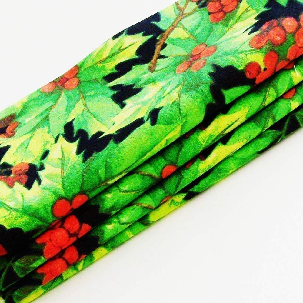 Handmade Christmas Holly Napkins Set OFFicial shop ME2Desig Cotton of 4-100% Rapid rise