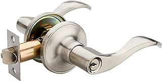 HENYIN Wave Lever Keyed Entry Door Lock/Door Knob Hardware Wave Handle and Closet Lockset (805SN-R)