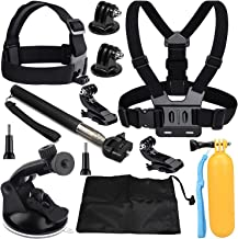VVHOOY 9 in 1 Universal Action Camera Accessory Bundle Kit Compatible with Gopro Hero 7/6/5/AKASO EK7000/Brave 4K/V50/APEMAN/Crosstour/FITFORT/Victure/Campark ACT74 Waterproof Action Camera