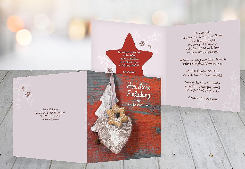 Kartenparadies Einladungskarte zu Weihnachten Einladung Deko, hochwertige Weihnachtseinladung zum Selbstgestalten (Format  145x145 mm) Farbe  Orangerot B01N51OGWE | Adoptieren