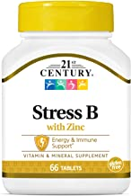 21st Century Stress B with Zinc Tablets, 66 Count (Pack of 3)