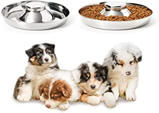 Thankspaw Stainless Steel Puppy Bowls, Set of 2 Puppy Feeder, Dog Food and Water Bowl, Food Feeding Weaning for Small/Medi...