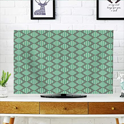Leighhome TV dust Cover Retro al Striped with B Repeatings Green Seafoam Sage Green TV dust