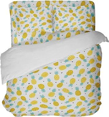 Extremely Stoked Sweet Hawaiian Pineapples Queen Comforter, Yellow