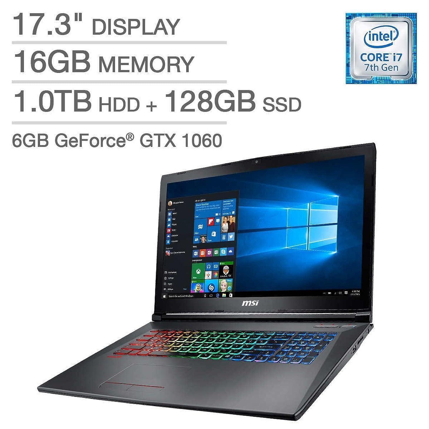 MSI GF72VR651 Gaming Laptop - Intel Core i7 16GB DDR4 1TB 7200RPM SATA Hard Drive + 128GB NVMe Solid State Drive - 6GB NVIDIA 1060 Graphics (Renewed)