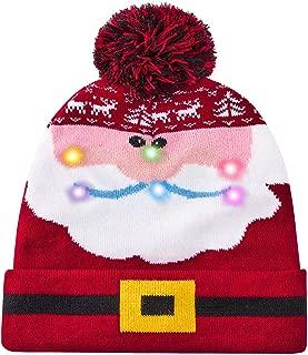 ALISISTER Led Christmas Hat Adult Kids Light Up Warm Cap Xmas Knit Winter Beanie