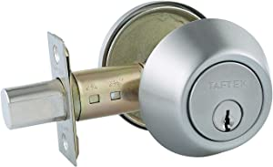 Taftek AMD101 Single Cylinder Deadbolt with Anti-Bump in Satin Nickel